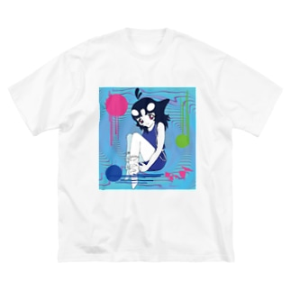 シャチみ(第二形態) Big silhouette T-shirts