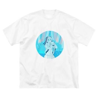 ソーダ色 Big silhouette T-shirts