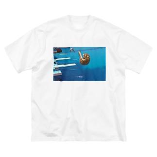 飛び込み選手 Big silhouette T-shirts