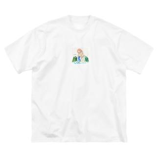 水瓶座 Big silhouette T-shirts