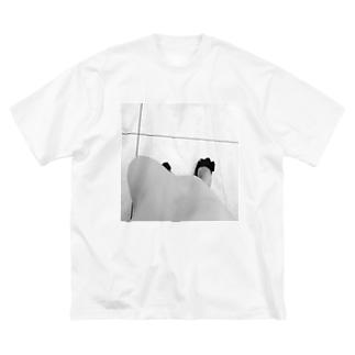 monochrome Big silhouette T-shirts