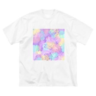 姫ONE工房の水彩柄① Big silhouette T-shirts