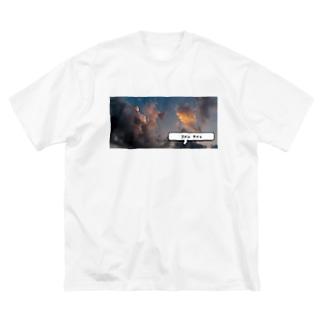 okusennのテイッ Big silhouette T-shirts
