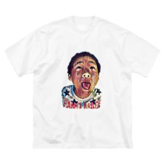 わんぱく少年 Big silhouette T-shirts