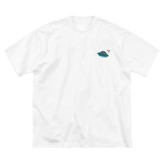 UFOはいます(シンプル) Big silhouette T-shirts