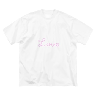 ゆるくまのLove Big silhouette T-shirts