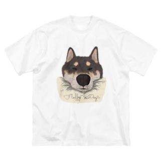 おねむな柴犬 Big silhouette T-shirts