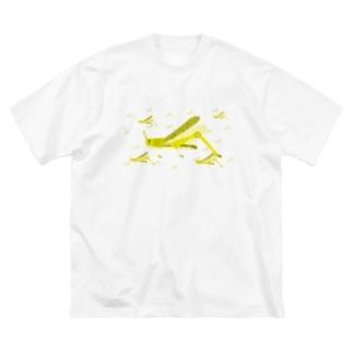 サバクトビバッタ 群生相 群体・蝗害 Big silhouette T-shirts