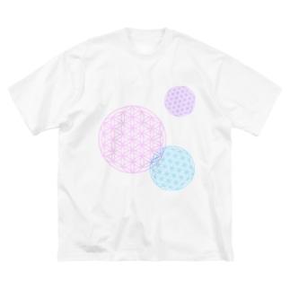 フラワーオブライフ Big silhouette T-shirts