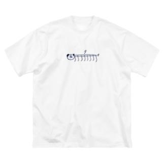 9連いぬ Big silhouette T-shirts