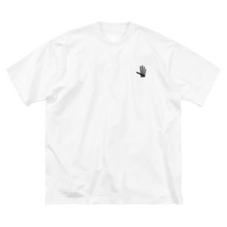 Simple LOGO (Black line) Big silhouette T-shirts