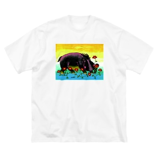 KABA & CHILD Big silhouette T-shirts
