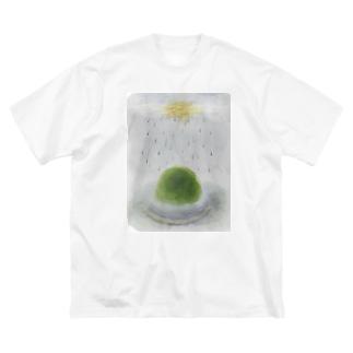 霧の中 Big silhouette T-shirts