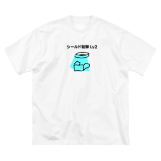 シールド防御 Big silhouette T-shirts