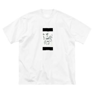 ちょんまげ Big silhouette T-shirts