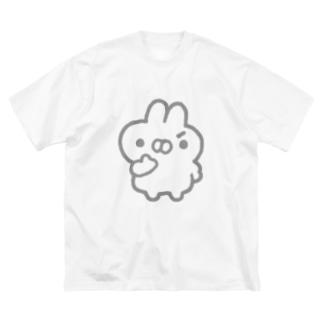 もくろむうさぎ Big silhouette T-shirts