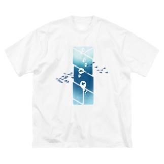 潜水 Big silhouette T-shirts
