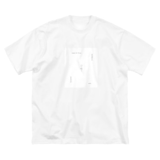 rilybiiの線画チューリップとメッセージ* Big silhouette T-shirts