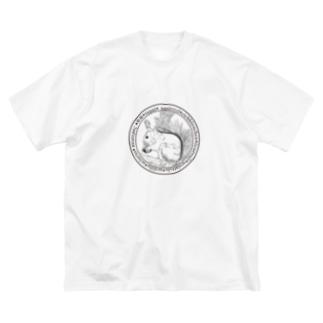 Antcreateのりす Big silhouette T-shirts