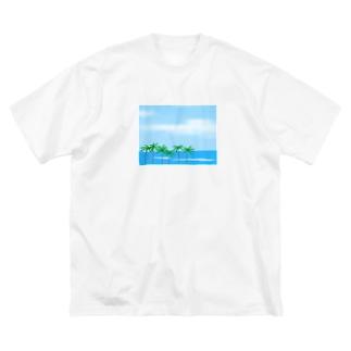 kharuの海 Big silhouette T-shirts