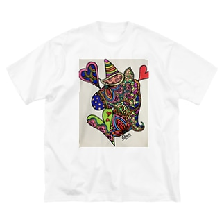 良々のゆにこーん(ユニコーン) Big silhouette T-shirts