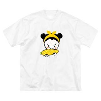 もろこしスマイルちゃん Big silhouette T-shirts