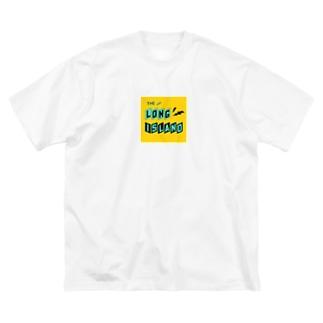 平行四辺形デザイン ターコイズ×ブラック×イエロー Big silhouette T-shirts