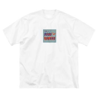 平行四辺形デザイン オレンジ×ネイビー×グレー Big silhouette T-shirts
