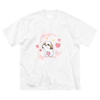 シーズーちゃん Big silhouette T-shirts