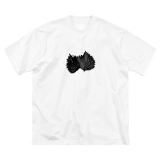 脱法大葉 Big silhouette T-shirts