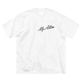 My Action Goods Black Big silhouette T-shirts