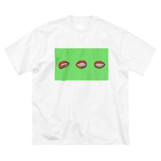 リップ(グリーン) Big T-shirts
