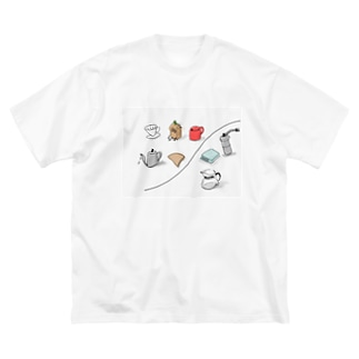 coffee items Big silhouette T-shirts