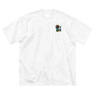 Y'sColor Big silhouette T-shirts