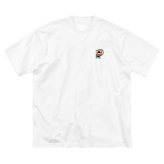 刺繍で作った富士山とったポラロイドカメラ Big silhouette T-shirts