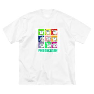 アオヤギさん百面相 Big silhouette T-shirts