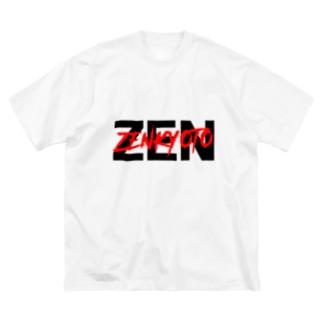 ZENダブルロゴ Big silhouette T-shirts