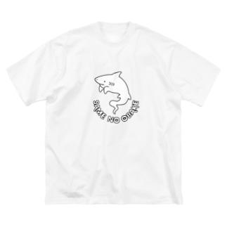 屋台 urukaのSAME NO OBAKE Big silhouette T-shirts