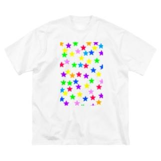 星 Big silhouette T-shirts