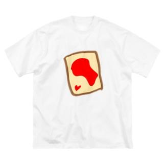 いちごジャムトースト Big silhouette T-shirts