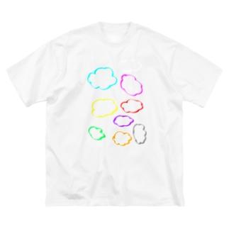 カラフル雲 Big silhouette T-shirts