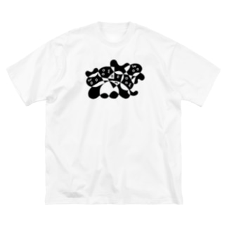BIG ゴロT/c_005(モノクロシリーズ) Big silhouette T-shirts