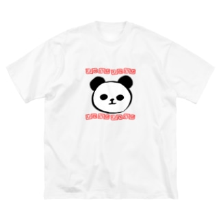 うてろの猫熊 Big silhouette T-shirts