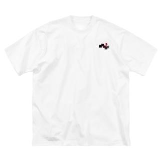 E.Hのsquare star Big silhouette T-shirts