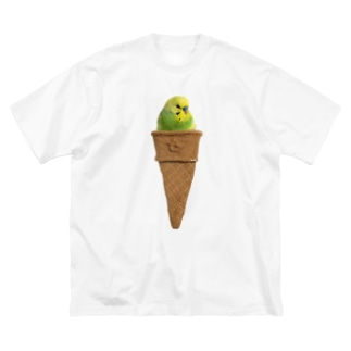 おかゆアイス 左向き Big silhouette T-shirts