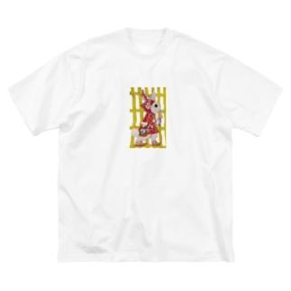 AKの赤ずきん うさぎ Big silhouette T-shirts