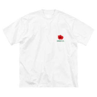 ハイビスカス Big silhouette T-shirts