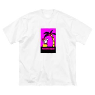 フラヤーギ Big silhouette T-shirts