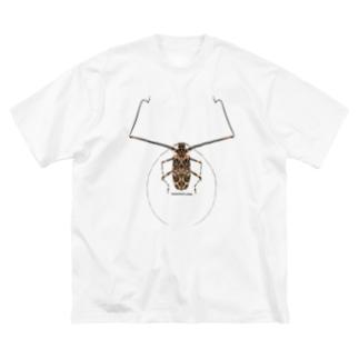 テナガカミキリ Big silhouette T-shirts