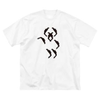 東京、突然フィーバー Big silhouette T-shirts